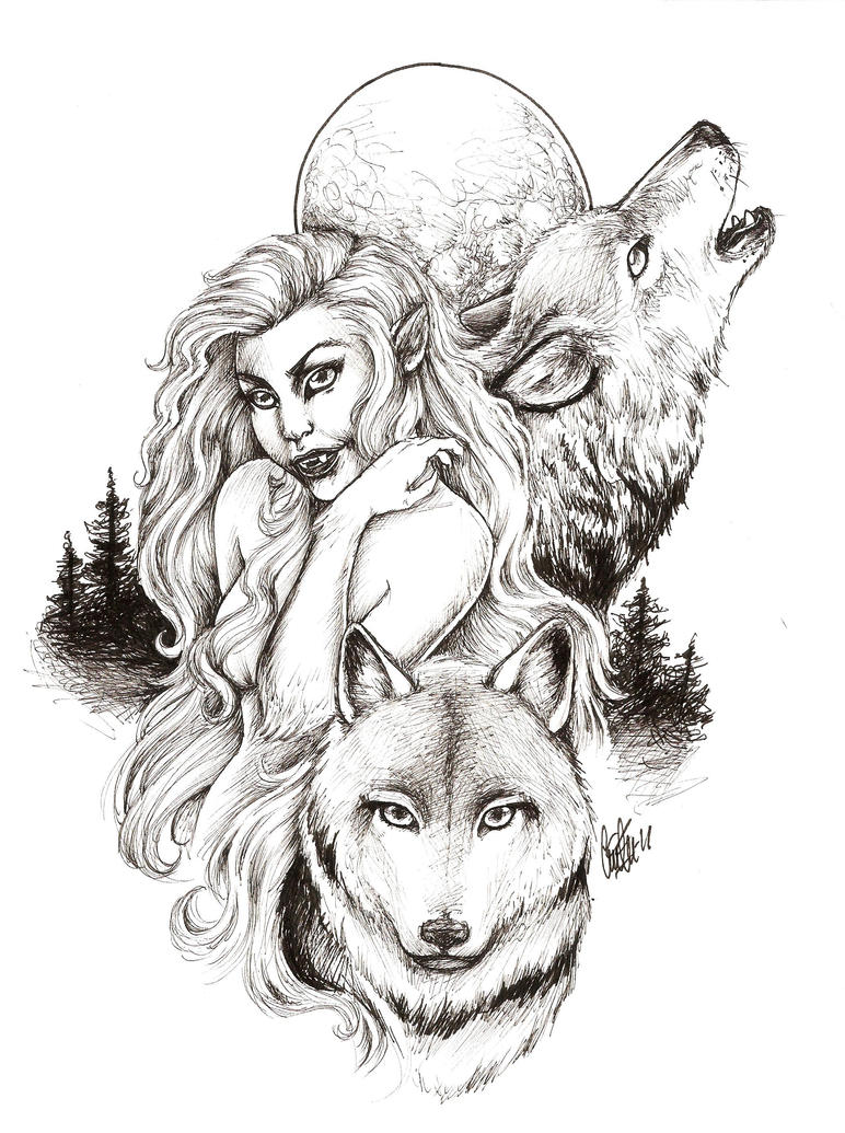 Werewolf Lady by ceciliekverndokken