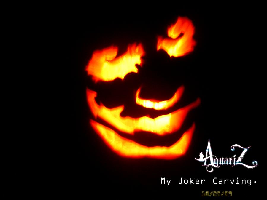 Joker pumpkin carving by azscarface on deviantart