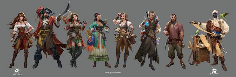 Ultimate pirates npc art