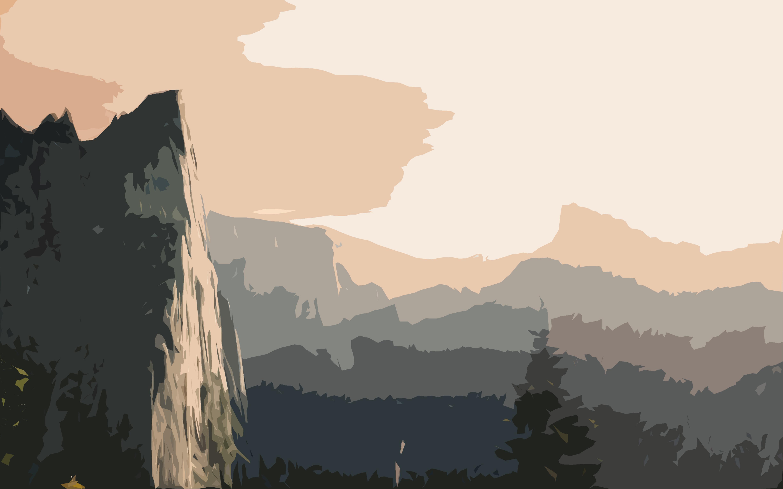 mountains flat design wallpaper by sebastian456 on