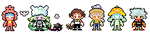 NEW COMMS: pixel sprites by pbons