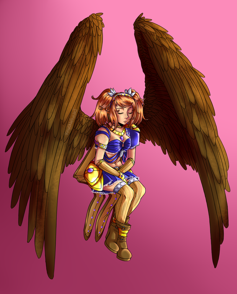 Art Trade Angel by The-Odd-Fox