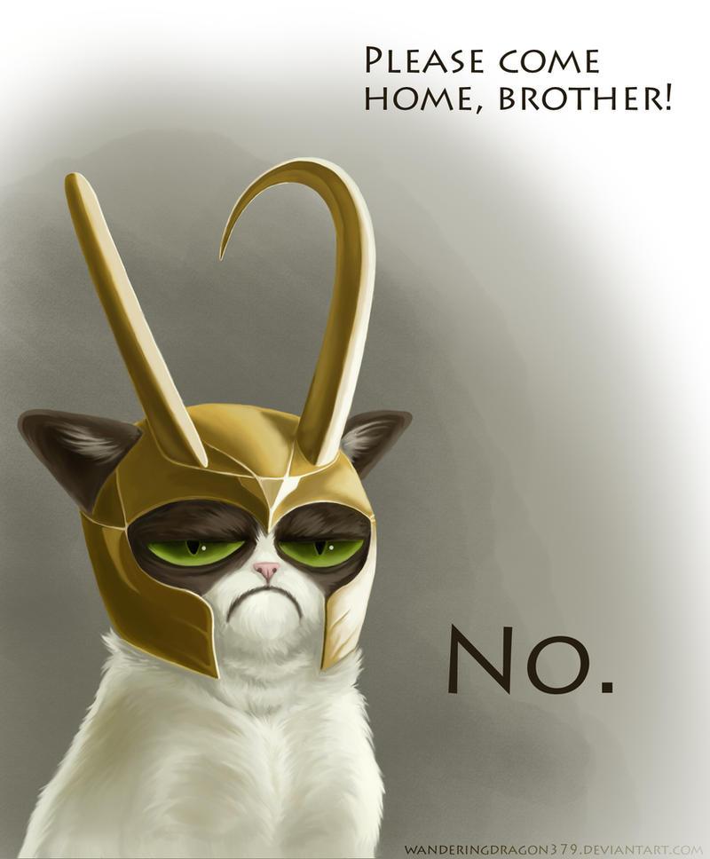 Grumpy Loki by WanderingDragon379