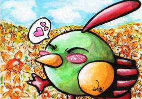 Natu in the spring - ACEO by OwlBulldog