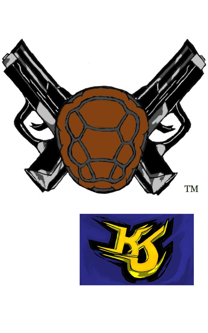 Gangsta Turtles Shell Gun Logo OWNED BY KJP by KeithJettProductions