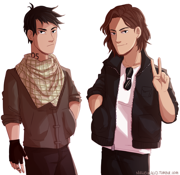 HALF BAD BOYS by itsnucleicacid