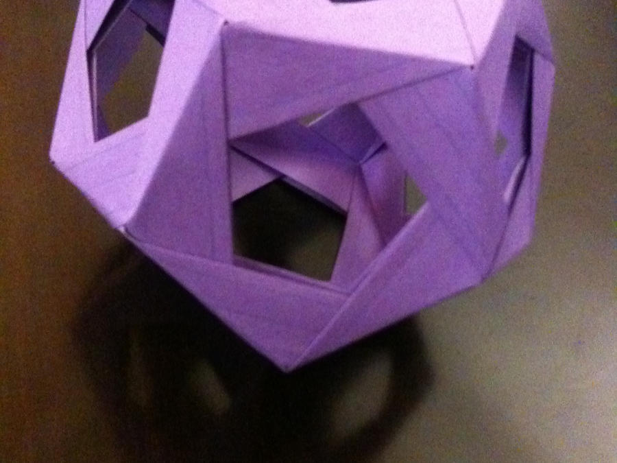 origami dodecahedron by eliphs on deviantart