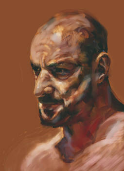 Digital Painting of Man 2