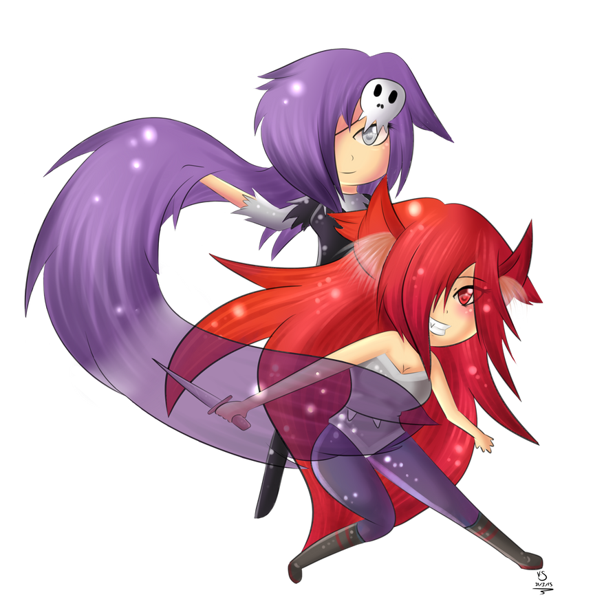 Commission - Scarlet and Violet by Valorie-Sonsaku