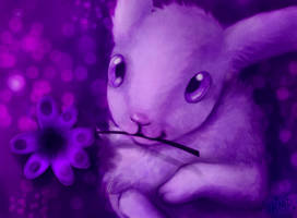 The purple bunny by taina-r