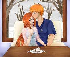 BLEACH: Winter Cafe [ICHIHIME] by meishiro