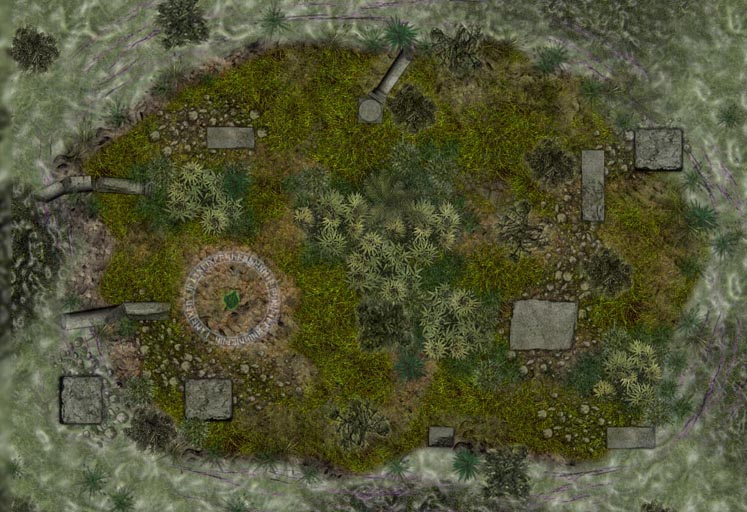Swamp Island Encounter Map by dm142
