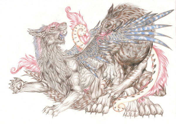 Monster Battle by LyrebirdJacki