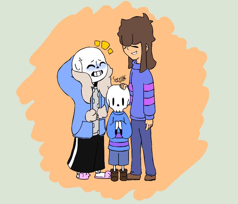 [Sans x Frisk] Undertale - A happy family by Stella-X on ...