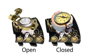 Steampunk Style Watch mockup by pslv3r