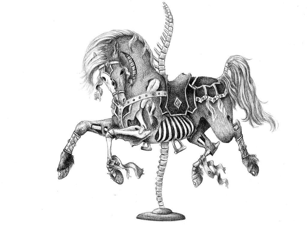 Skeletal Carousel Horse by Canuckdesz
