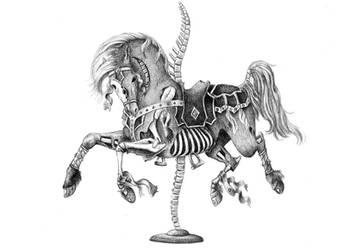 Skeletal Carousel Horse