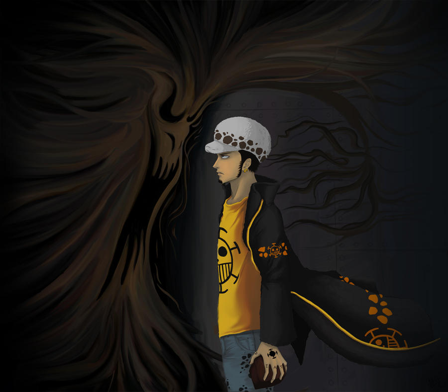 Trafalgar Law and that smoky thing - Commission by Arin-ya ...