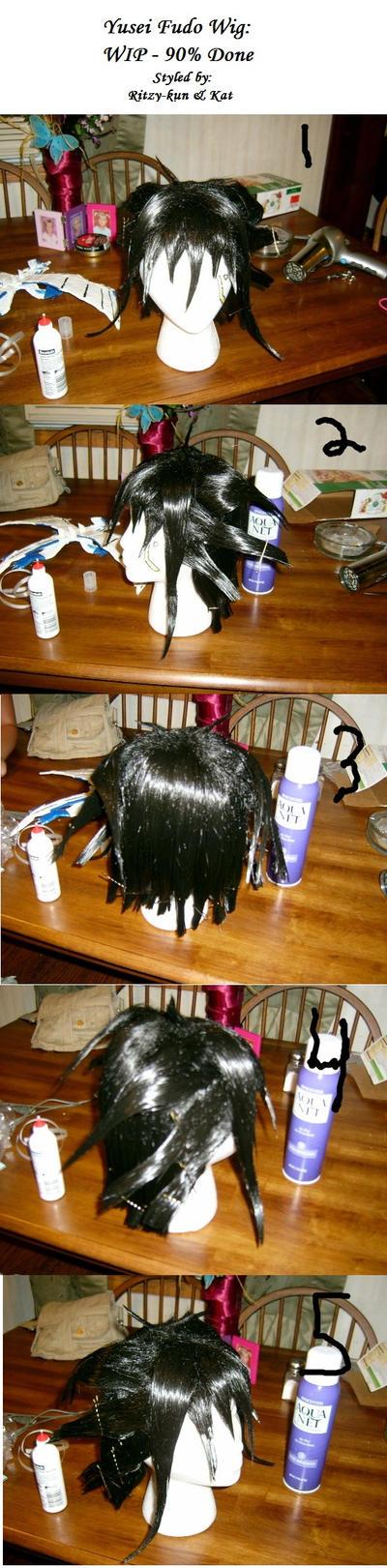 Yusei wig progress: 90 percent by Ritzy-kun