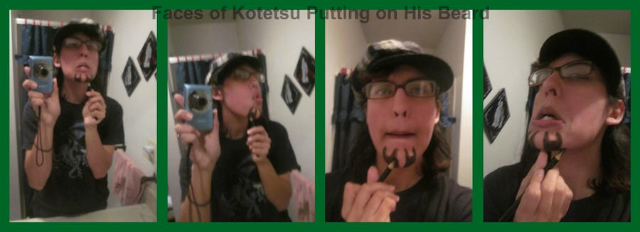 The Faces Kotetsu Makes Putting on His Beard by Ritzy-kun