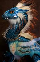 wip - teal dragon soft sculpture