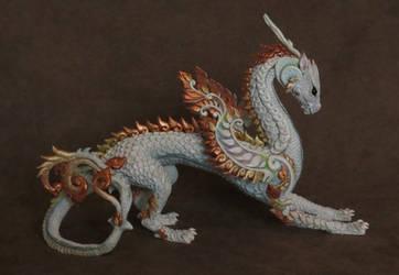 dragon sculpture - painted