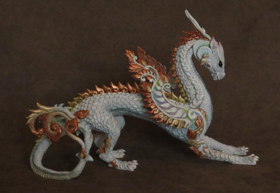 dragon sculpture - painted by kimrhodes