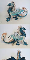 Teal and copper dragon