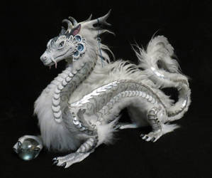 Orb Dragon: silver cloud by kimrhodes