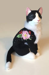 Embroidered cat