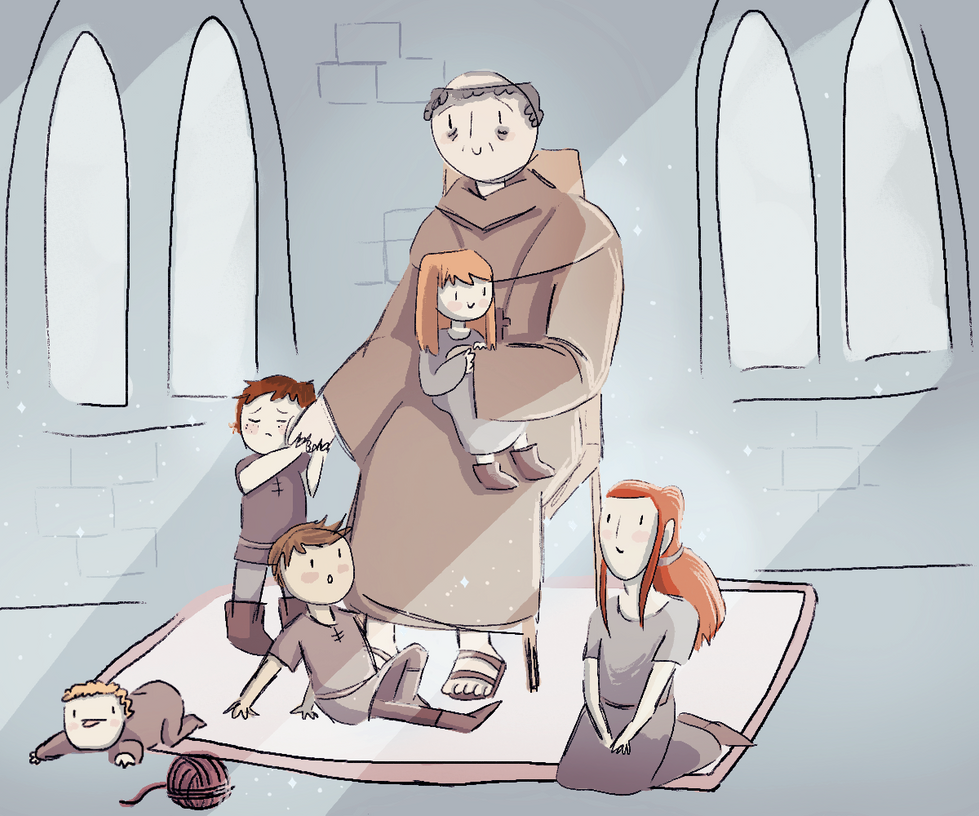 With the Grandneices/nephews by CrazyRainGirl