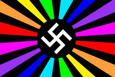 Rainbow Sun Cross by purplemutant