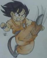 goku hi kick by saiyan-chan