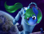 Commission: A Tardis in Space...and Ponies