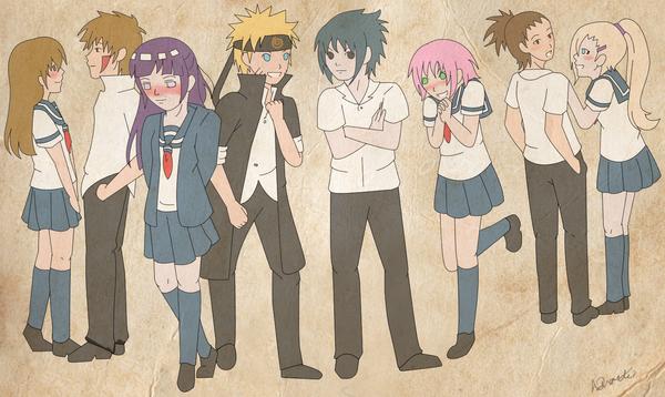 Konoha Gakuen Den Anime Naruto Konoha Gakuen Den by