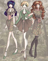 Transitional Dresses, part 1 by seaofwishes