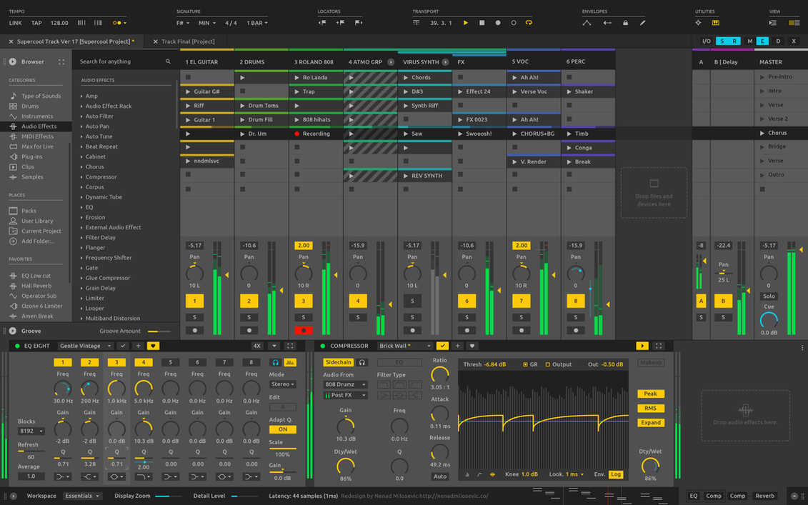 Ableton Live Redesign by rootout