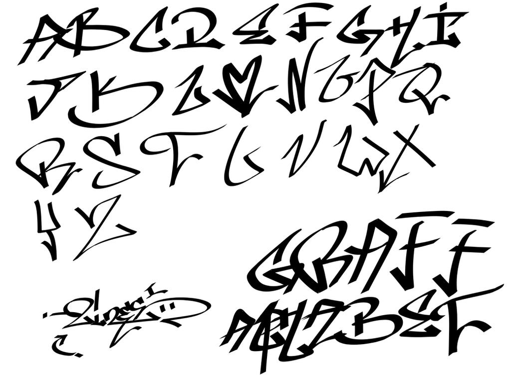 Graffiti alphabet by remixxes