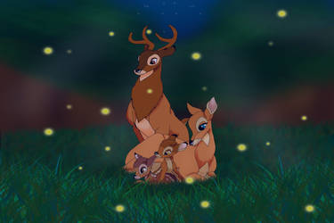 Bambi, Faline, and the Fawns by AnimeGal2010