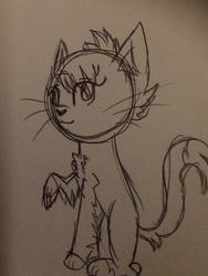 I couldn't sleep so I drew a crappy cat picture