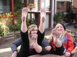 Katrin and Lena barefoot 3