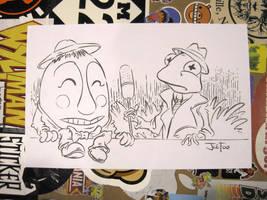 News Reporter Kermit Commission by JoeFoo