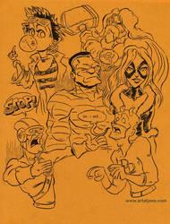 Marvel Sketch Dump by JoeFoo