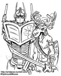 Moose and OptimusTumblr by JoeFoo