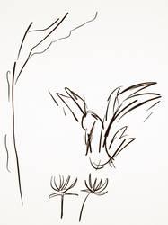 Sketch-flowerbird