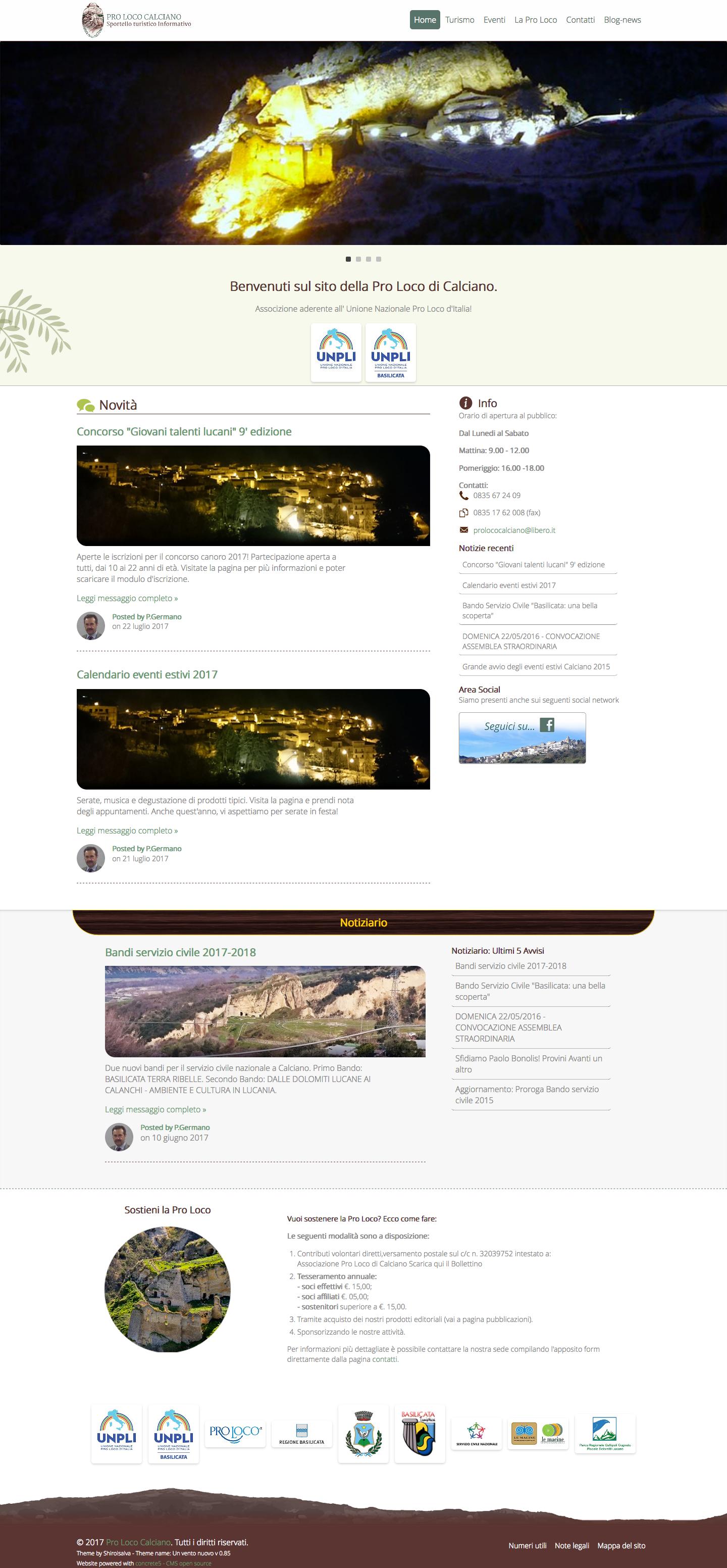 Webdesign.prolococalciano-homepage