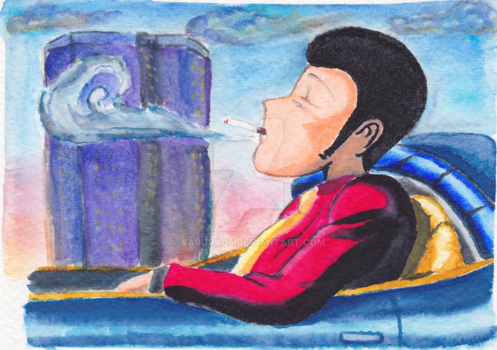 Watercolor Lupin III by Saruva05