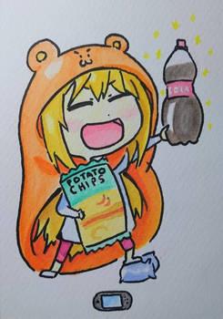 Watercolor Umaru-chan!
