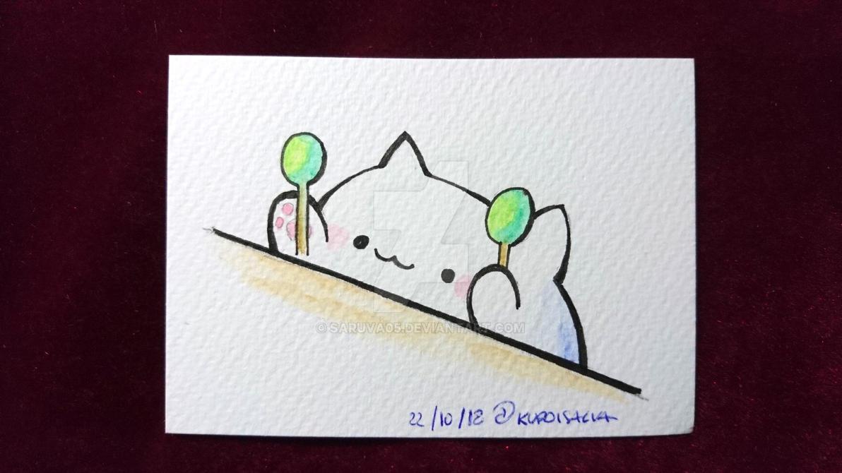 Watercolor-bongocat by Saruva05