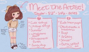 meet the artist but it's kind of messy